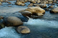 Stone in River Flowing H.P India