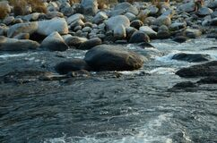 Stone in River Flowing Water H.P India