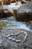 Stone River Heart Stock Photo