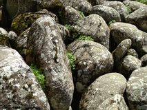 Stone river in mountain royalty free stock images