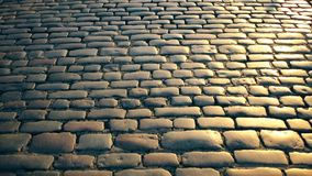 Stone road along the castle. stock footage