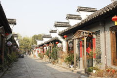 The Stone road crossing Traditional buildings(Jiaxing,China) Royalty Free Stock Photo