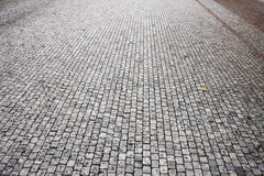 Stone road. The stone road in the europe city Stock Photo