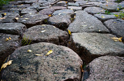Free Stone Road From Granite Cobble Royalty Free Stock Image - 21901036