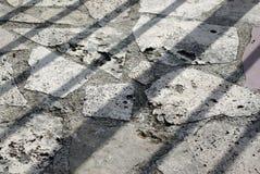Stone road. Italy Narni abstract Stock Image