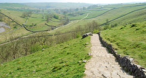 Stone road at Malham Cove (UK) Stock Image