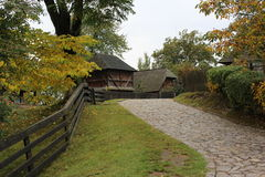 Stone road. In the open-air museum Skansen Royalty Free Stock Images