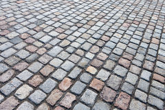 Stone road paved Stock Photography