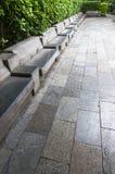 Stone  Road  and  stool Royalty Free Stock Photo