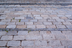 Stone road texture Royalty Free Stock Images