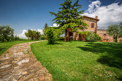 Stone road to the country house Royalty Free Stock Photos