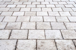 Stone roadway. From a white marble Royalty Free Stock Photo