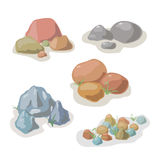 Stone and rock collection vector set Royalty Free Stock Images