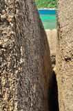 Stone rock Koh Tao - a paradise island in Thailand. stock photography