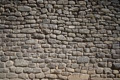 Stone Rock Wall. From Machu Picchu Stock Images