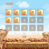 Stone and rocks desert game background  Stock Images