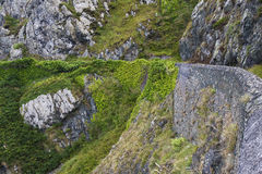 Stone rocks mountain path in Ireland Royalty Free Stock Image