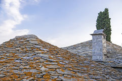 Stone roof in Greece Stock Photography