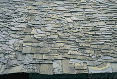 Stone   world  in west  china. Stone   roof of  a  house  in Anshun,Guizhou,China Stock Image