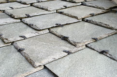Stone roof tiles pattern Stock Photos