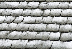 Stone roof under snow Royalty Free Stock Photos