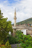 Stone Roofs in Mostar Stock Photo