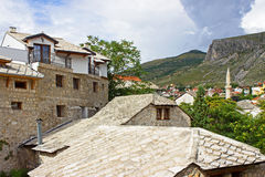 Stone Roofs in Mostar Stock Images