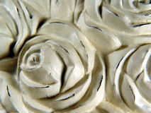 Stone Roses. A sculpture of roses royalty free stock photography