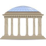Stone rotunde, classic columns. Stone rotunde with glass dome, columns vector eps10 Royalty Free Stock Photos