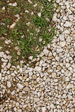 Stone rubble underfoot. Grunge background texture. Royalty Free Stock Image