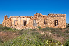 Stone ruin building in the countryside of Fuerteventura Stock Image