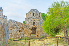 The stone ruins in Alanya Stock Images