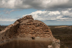 Stone ruins almeria Royalty Free Stock Photos