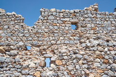 Stone ruins of the ancient city of Palio Pyli. On the island of Kos in Greece stock photos