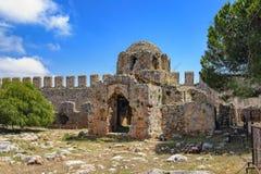 Stone ruins of the Byzantine Era Church Stock Photography