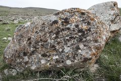 Stone ruins in Church Saint Zoravar Stock Photo