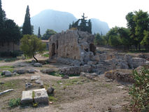 Stone ruins at Corinth, Greece Royalty Free Stock Images