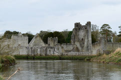 Stone Ruins of Desmond Castle Along the River Maigue Stock Photography