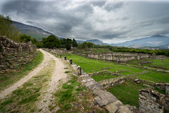 Stone ruins of Historic Salonae near Split, Dalmatia, Croatia. September 2016 Stock Photos