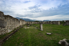 Stone ruins of Historic Salonae near Split, Dalmatia, Croatia. September 2016 Stock Images