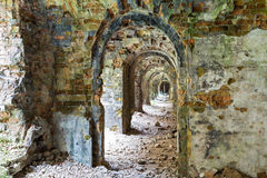 Stone ruins inside the fort Tarakanovskiy. Royalty Free Stock Photos