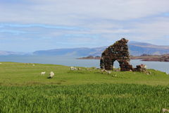 Stone ruins in Iona Scotland Royalty Free Stock Images