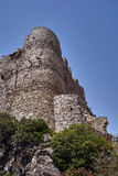 The stone ruins of a medieval castle of the Order of the Knights Royalty Free Stock Photography