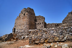 The stone ruins of a medieval castle of the Order of the Knights Royalty Free Stock Image