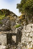 Stone ruins in the mountains. The stone ruins in the mountains Stock Photography
