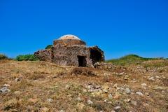 Ruined Mosque, Methoni castle, Greece stock photos