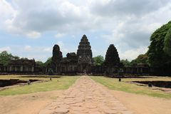 The stone ruins at Pimai Nakorn Ratchasrima Royalty Free Stock Photo