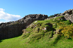 Stone Ruins and Remains of Urquhart Castle in Scotland Stock Photography