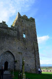 Stone Ruins of the Rock of Cashel in Ireland Stock Image