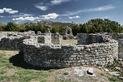 Stone ruins of the Roman city. Of Salona in Croatia Royalty Free Stock Photography